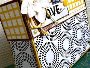 Une boite de correspondance réalisée avec la Box de Quiscrap