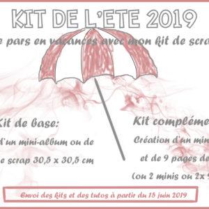 Kit de base «Je Pars en Vacances avec mon kit de scrap» Eté 2019