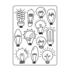 Classeur d'embossage Ampoules