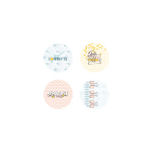 Lot de 4 Badges « Confidentiel » de Marie-LN Geffray