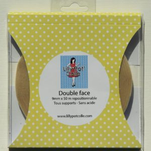 Double Face 9 mm x 50 m repositionnable Lilly Pot'Colle