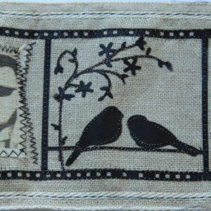 Feuille de papier tissé gris adhésif 30 x 30 cm Lilly Pot'Colle