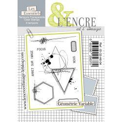 Planche de tampons L'Encre et L'Image Géométrie Variable