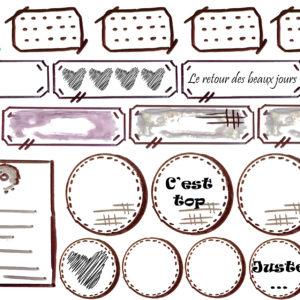 Planche «Les Etiquettes de Quiscrap»