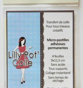 Sachet de 4 feuillets de transfert de colle 9 x 11,5 cm Lilly Pot'Colle