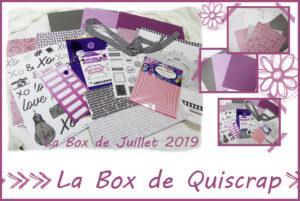La Box de Quiscrap: Juillet 2019