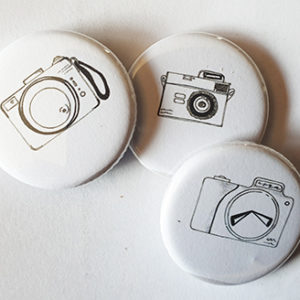 Lot de 3 Badges « Les Appareils Photos By Quiscrap »