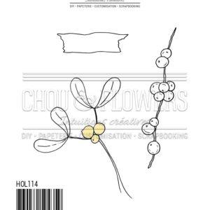 Tampon EZ Feuillages de Noël Chou&Flowers