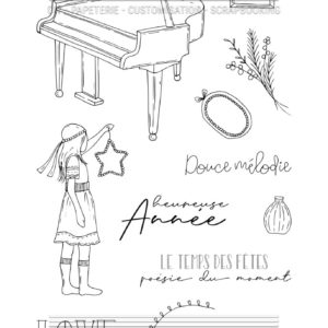 Tampon clear Le Piano Chou&Flowers