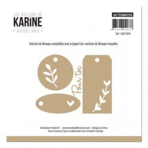 Dies Set Etiquettes Collection Woodland Les Ateliers de Karine