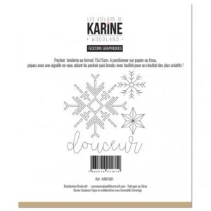 Pochoir Broderie Flocons Graphiques Collection Woodland Les Ateliers de Karine