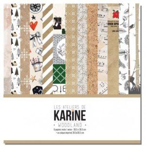 Collection Woodland Les Ateliers de Karine 6 feuilles + 1 calque imprimé