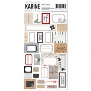 Stickers Etiquettes Collection Woodland Les Ateliers de Karine