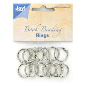 Lot de 12 anneaux métalliques argent 20mm