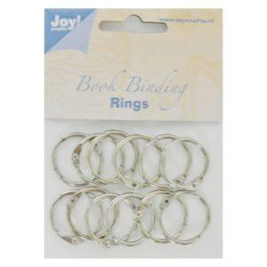 Lot de 12 anneaux métalliques Argent 25mm
