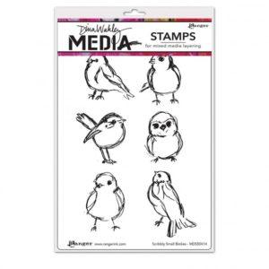 Tampon EZ Scribbly Small Birdies Dina Wakley Ranger