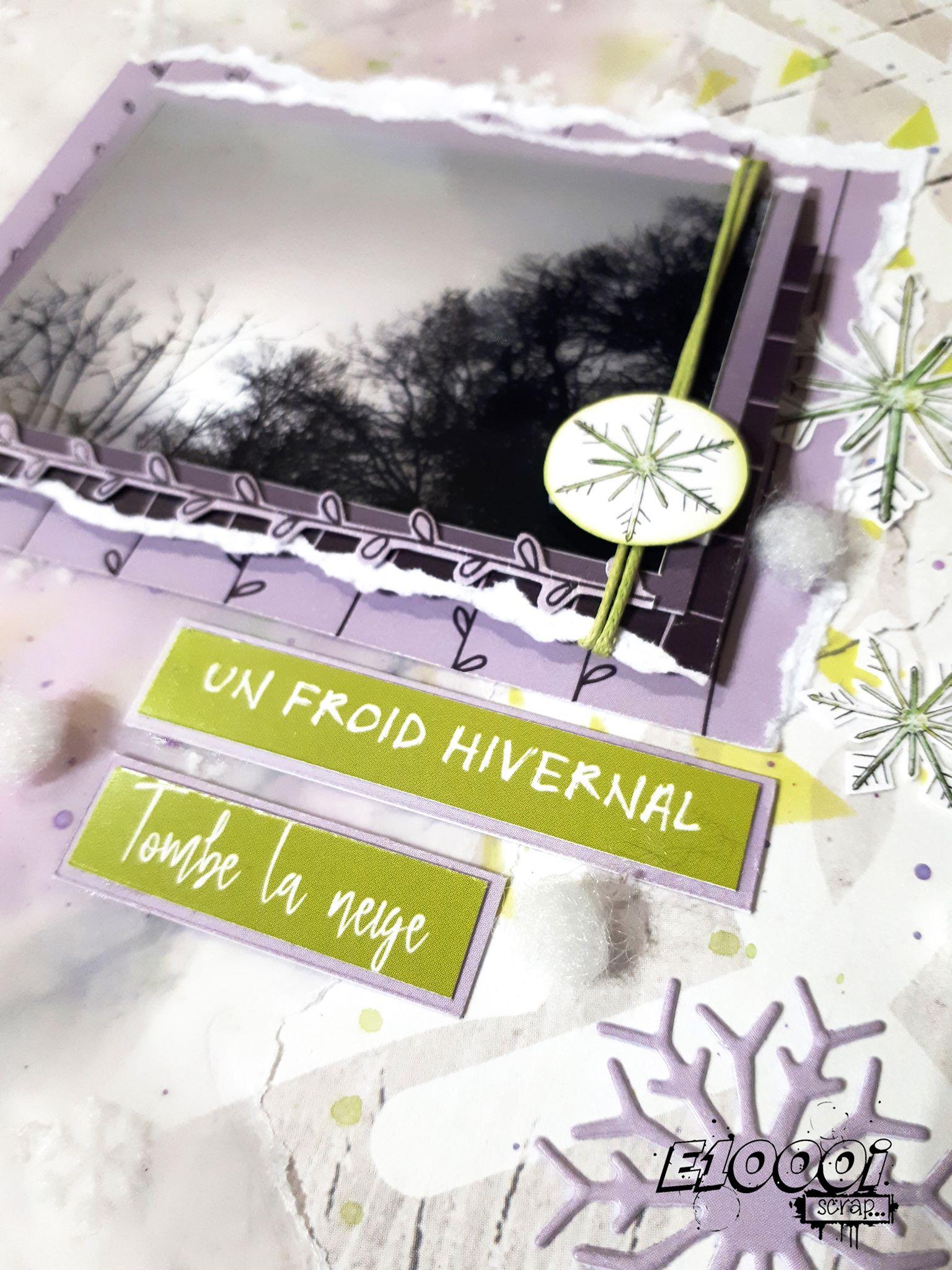 Le premier tuto d'Emilie Mennechet pour la Box de Février 2020: une page remplie de douceur et de fraicheur