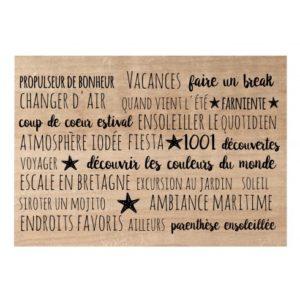 Tampon Bois Fond Les Petites Phrases Chou&Flowers