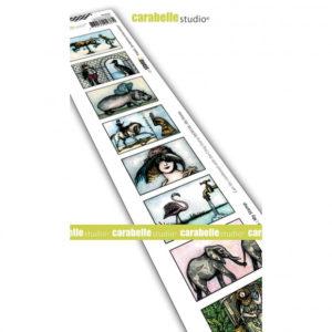 Tampon cling 8 Labels Des Hommes et Des Animaux Carabelle Studio