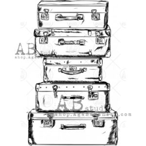 Tampon Vintage Suitcases 2 ABstudio