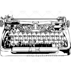 Tampon Vintage Typewriter ABstudio