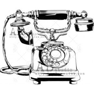 Tampon Vintage Phone ABstudio