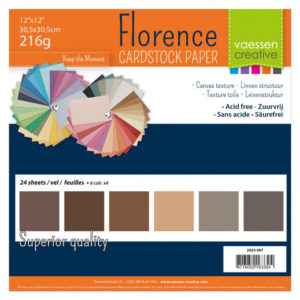Lot de 24 Cardstock Unis – 6 Coloris – Nuance de Marron
