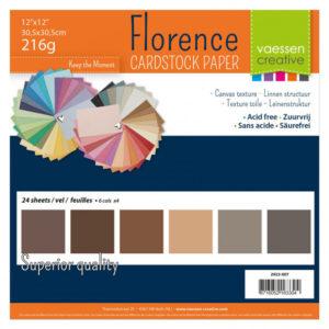Lot de 24 Cardstock Unis – 6 Coloris – Nuance de Marron
