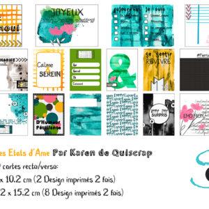 Cartes pour album à pochettes: Les Etats d'Ame de Quiscrap