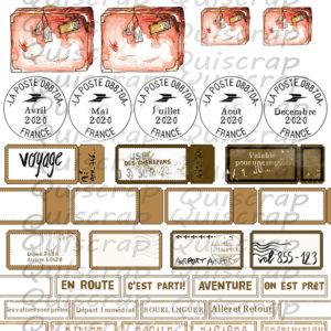 Planche Les VOYAGES BY Quiscrap