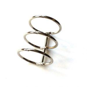 Reliure 3 anneaux Argent