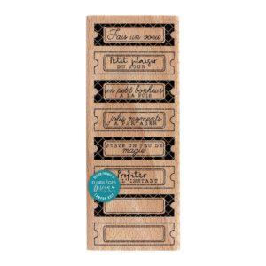Tampon Bois Huit Tickets Florilèges Design