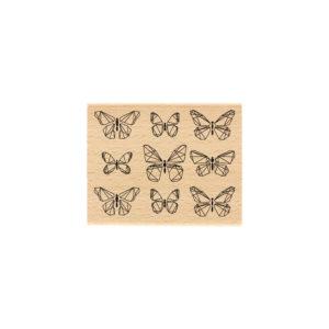 Tampon Bois Papillons Graphiques Florilèges Design