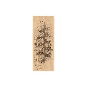 Tampon Bois texte Moucheté Florilèges Design