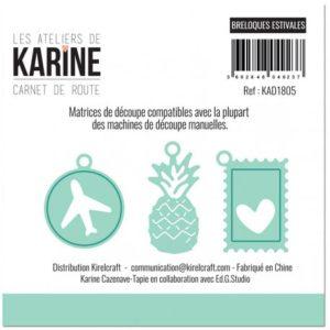 Dies Breloques Estivales Collection Carnet de Route Les Ateliers de Karine