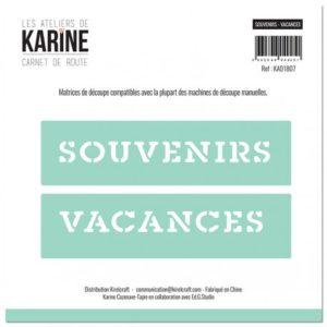 Dies Souvenirs – Vacances Collection Carnet de Route Les Ateliers de Karine