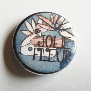 Badge Jolie Fleur By Quiscrap