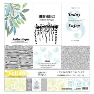 Kit de 4 Calques Yellow Florilèges Design