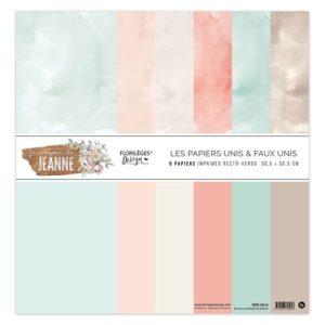 Kit de 6 papiers unis La Maison de Jeanne Florilèges Design