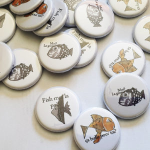 Lot de 3 badges « Les Poissons » By Quiscrap