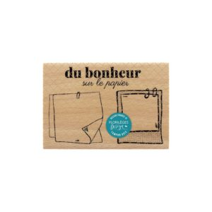 Tampon Bois Du Bonheur sur le papier Florilèges Design