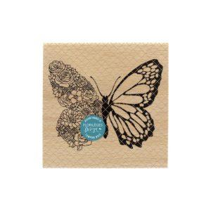 Tampon Bois Papillon Floral Florilèges Design