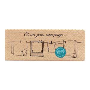 Tampon Bois Un jour Une Page Florilèges Design