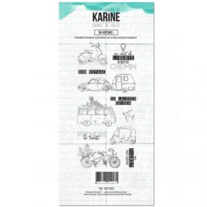 Tampon Clear En Voiture ! Collection Carnet de Route Les Ateliers de Karine