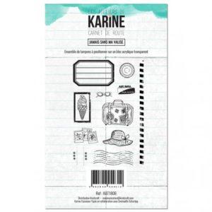 Tampon Jamais Sans Ma Valise Collection Carnet de Route Les Ateliers de Karine