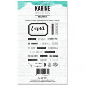 Tampon Clear Mes Carnets Collection Carnet de Route Les Ateliers de Karine