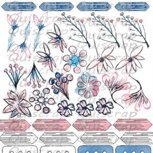 Planche Les Fleurs By Quiscrap