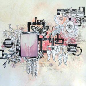 Tuto n°1 pour la Box de Juin 2020 par Angélique Maëtou: la Page de scrap