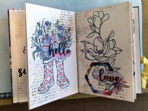 Tuto N°2 pour la Box de Juin 2020 par Angélique Maëtou: le minialbum fleuri