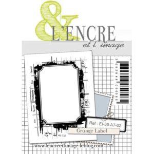 Tampon clear Grunge Label L'Encre et L'Image